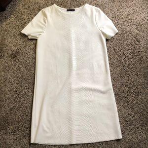 White snakeskin dress